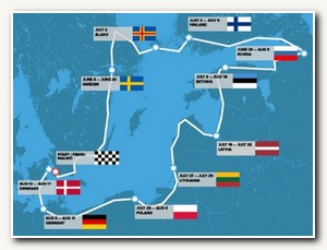 Race For The Baltic - Karta