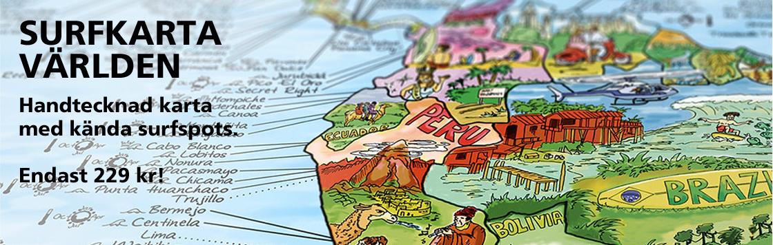 Surfkarta Världen – Endast 229 kr!